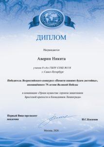 номинация 10 Аверин Никита